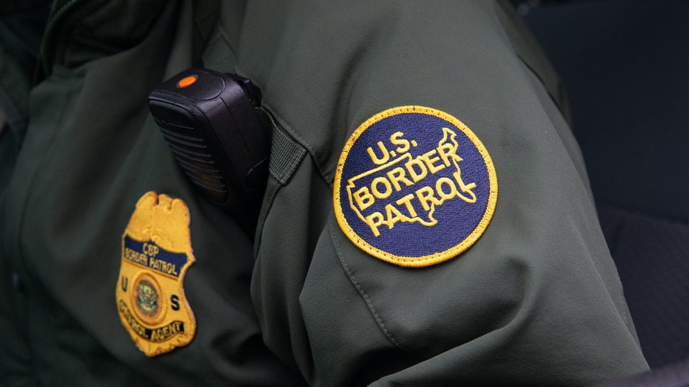 TOPSHOT - This photo shows a US Border Patrol patch on a border agent's uniform in McAllen, Texas, on January 15, 2019.