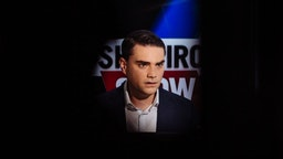 LOS ANGELES, CA SEPTEMBER 26: Conservative political commentator, writer, and lawyer Ben Shapiro during a break of the filming of his show The Ben Shapiro Show on September 26, 2018 in Los Angles, CA (Photo by Jessica Pons/ For The Washington Post via Getty Images)