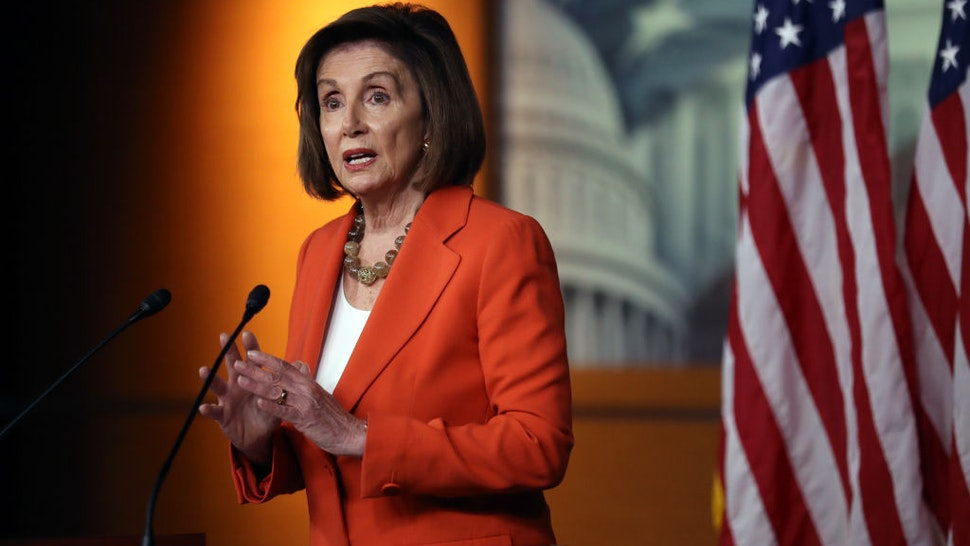WASHINGTON, DC - OCTOBER 31: U.S. Speaker of the House Nancy Pelosi delivers remarks at a press conference at the U.S. Capitol on October 31, 2019 in Washington, DC. Later today The U.S. House of Representatives is scheduled to vote on a resolution formalizing the impeachment inquiry centered on U.S. President Donald Trump. (Photo by Chip Somodevilla/Getty Images)