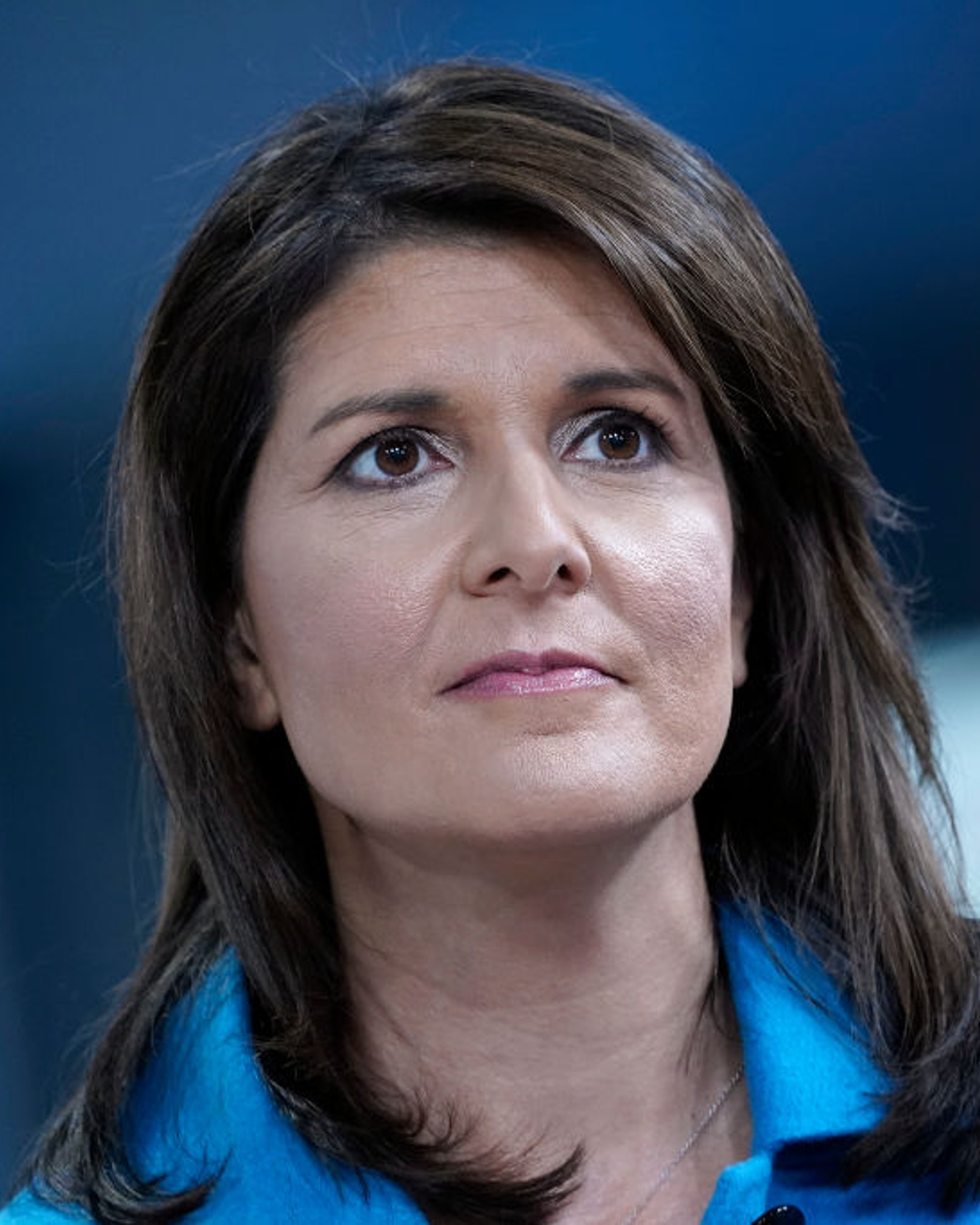 """NEW YORK, NEW YORK - NOVEMBER 12: (EXCLUSIVE COVERAGE) Former UN Ambassador Nikki Haley visits """"Fox & Friends"""" at Fox News Channel Studios on November 12, 2019 in New York City. (Photo by John Lamparski/Getty Images)"""
