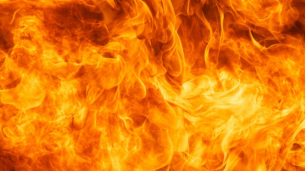 Close-Up Of Fire - stock photo