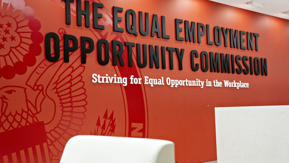 Signage is displayed inside the Equal Employment Opportunity Commission (EEOC) headquarters in Washington, D.C., U.S., on Tuesday, Feb. 18, 2020. The Trump administration wants to cut fiscal year 2021 spending on the Labor Department, National Labor Relations Board, and EEOC, reviving previous belt-tightening bids that have not been approved by Congress.