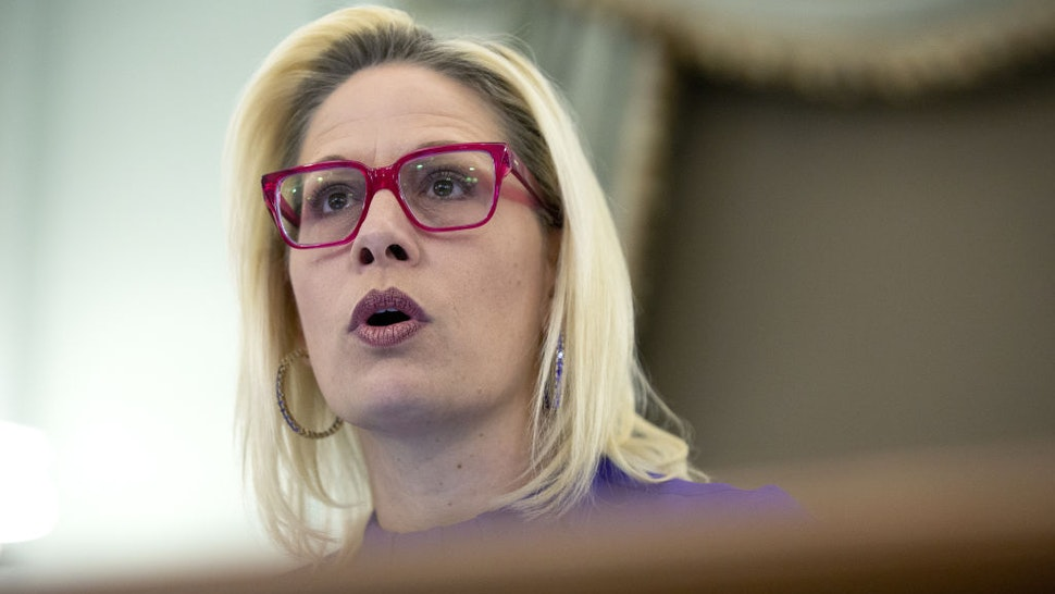 Senator Kyrsten Sinema, a Democrat from Arizona, speaks during a Senate Commerce, Science and Transportation Subcommittee hearing in Washington, D.C., U.S., on Wednesday, March 4, 2020. Republicans and Democrats agreed on a $7.8 billion emergency spending bill to fund the U.S. governments response to the coronavirus outbreak, according to Senate Appropriations ChairmanRichard Shelby.