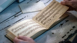 The score of a piano piece by Engelbert Humperdinck (1854-1921) was found in a poetry notebook belonging to the German composer's sister