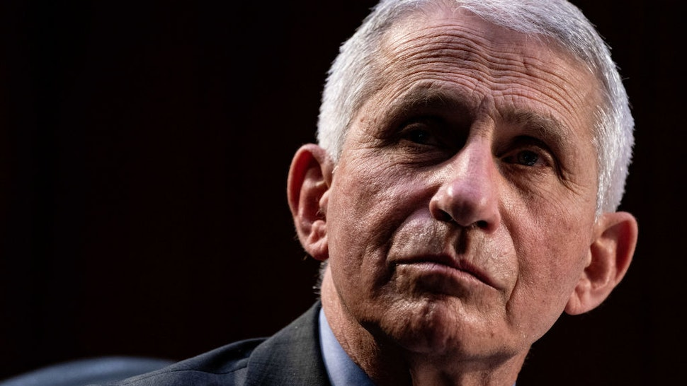 Dr. Anthony Fauci, Director at the National Institute Of Allergy and Infectious Diseases, speaks during a hearing with the Senate Committee on Health, Education, Labor, and Pensions, on the Covid-19 response, on Capitol Hill on March 18, 2021 in Washington, DC.