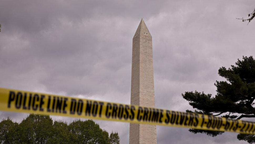 Washington Monument police tape