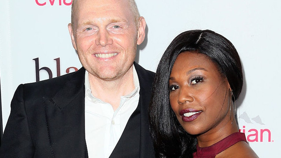 """Actor Bill Burr (L) and wife Nia Renee Hill attend the premiere of Relativity Media's """"Black or White"""" at Regal Cinemas L.A. Live on January 20, 2015 in Los Angeles, California."""