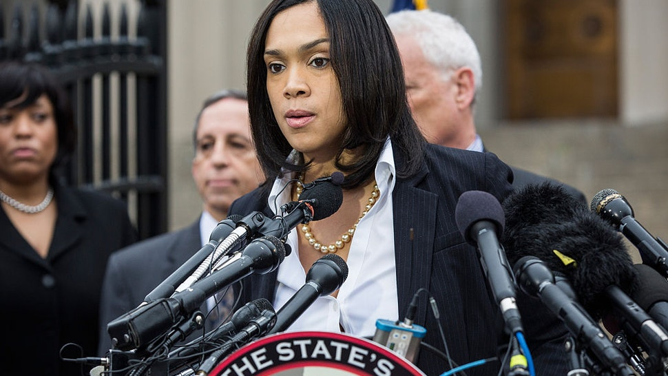 Baltimore City State's Attorney Marilyn J. Mosby announces that criminal charges will be filed against Baltimore police officers in the death of Freddie Gray on May 1, 2015 in Baltimore, Maryland.