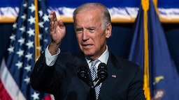 NEW YORK, NY - SEPTEMBER 10: U.S. Vice President Joe Biden speaks in support of raising the minimum wage for the state of New York to $15 per hour on September 10, 2015 in New York City. Biden said he would like to see the federal minimum wage risen to $12 per hour. (Photo by Andrew Burton/Getty Images)