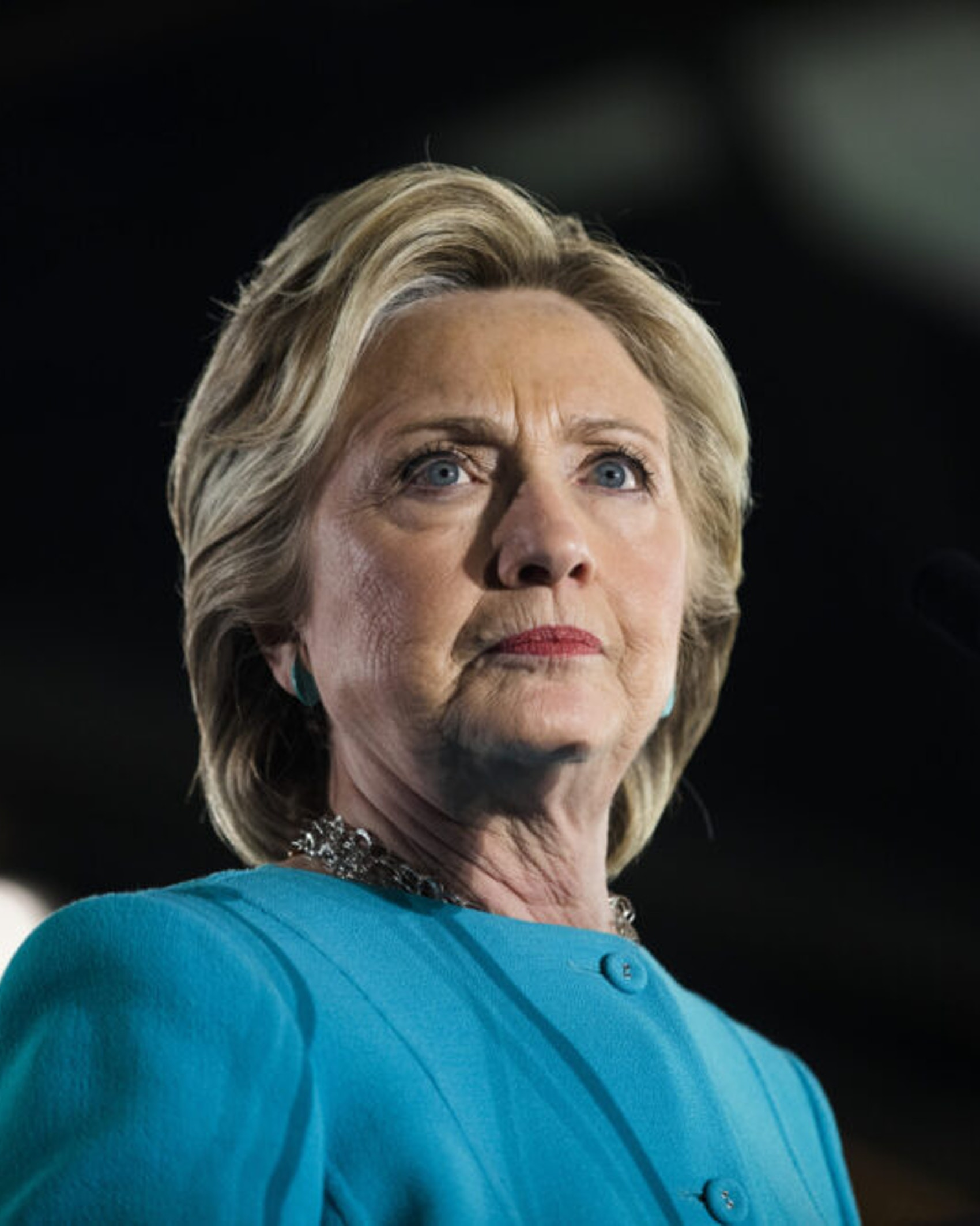 MANCHESTER, NH - NOVEMBER 06: Democratic presidential nominee Hillary Clinton appears at a campaign rally, November 6, 2016 in Manchester, New Hampshire.