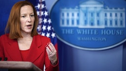WASHINGTON, DC - MARCH 2: White House Press Secretary Jen Psaki speaks during the daily press briefing at the White House on March 2, 2021 in Washington, DC. Later on Tuesday, President Joe Biden will deliver remarks on the ongoing COVID-19 pandemic.