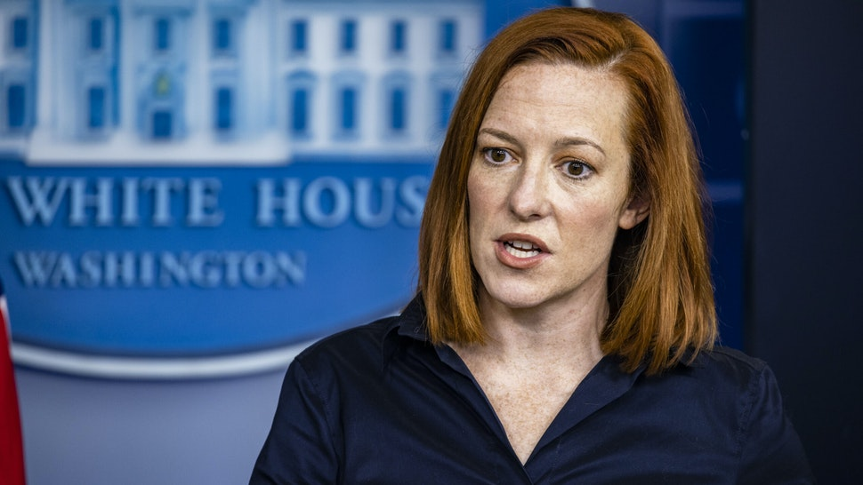WASHINGTON, DC - MARCH 04: White House Press Secretary Jen Psaki speaks during the daily press briefing in the Brady Press Briefing Room at the White House on March 4, 2021 in Washington, DC. Secretary of Veterans Affairs Denis McDonough also spoke at the briefing.