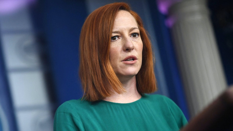 White House Press Secretary Jen Psaki speaks during the daily press briefing on March 15, 2021, in the Brady Briefing Room of the White House in Washington, DC.