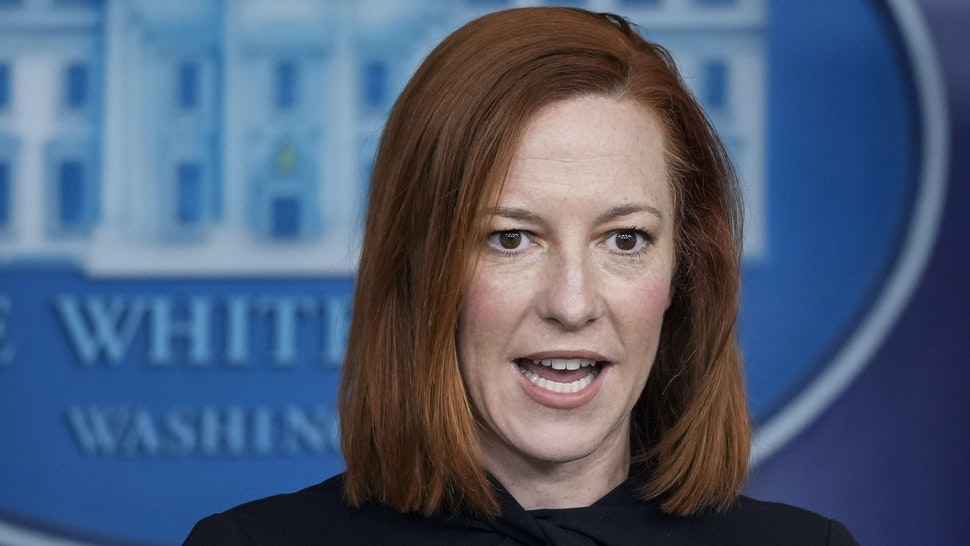 WASHINGTON, DC - MARCH 1: White House Press Secretary Jen Psaki speaks before introducing Secretary of Homeland Security Alejandro Mayorkas during the daily press briefing at the White House on March 1, 2021 in Washington, DC. Mayorkas discussed the Biden administration's plans for overhauling immigration policy.