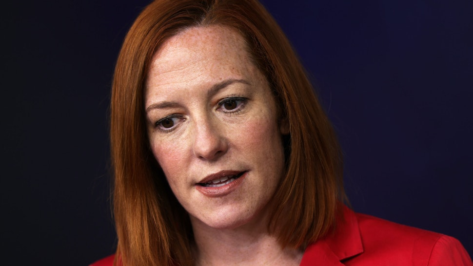 WASHINGTON, DC - MARCH 11: White House Press Secretary Jen Psaki speaks during a daily press briefing at the James Brady Press Briefing Room of the White House on March 11, 2021 in Washington, DC. Psaki held a briefing to answer questions from members of the press.