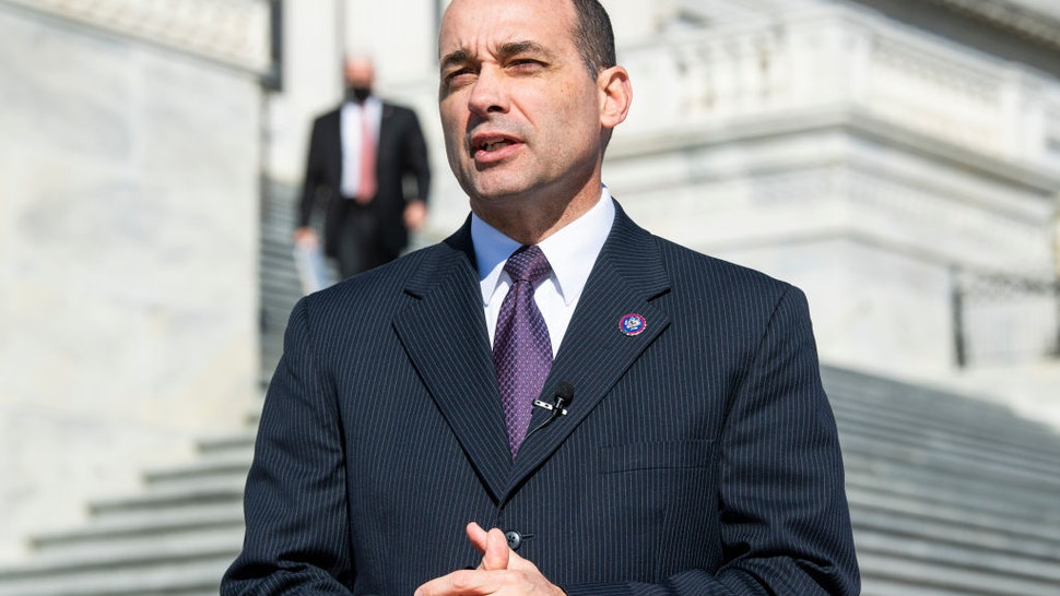UNITED STATES - FEBRUARY 25: Rep. Bob Good, R-Va., is seen after a news conference with members of the House Freedom Caucus outside the Capitol to oppose the Equality Act, which prohibits discrimination on the basis of sex, gender identity, and sexual orientation, on Thursday February 25, 2021.