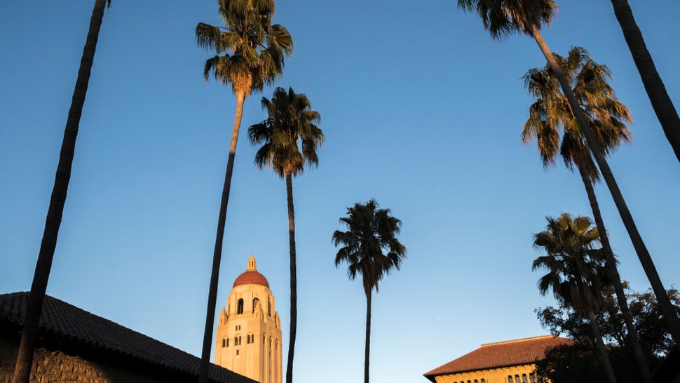 PALO ALTO, CA - SEPTEMBER 23: A general view of the Stanford University campus including Hoover Tower taken on September 23, 2019 in Palo Alto, California.