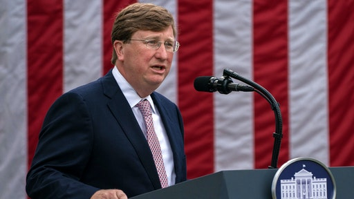 Tate Reeves, governor of Mississippi, speaks during an event in the Rose Garden of the White House in Washington, D.C., U.S., on Monday, Sept. 28, 2020. President Donald Trumpis set to announce the government will send millions of rapid-result Covid-19 tests to states, and urge that they be used in schools.