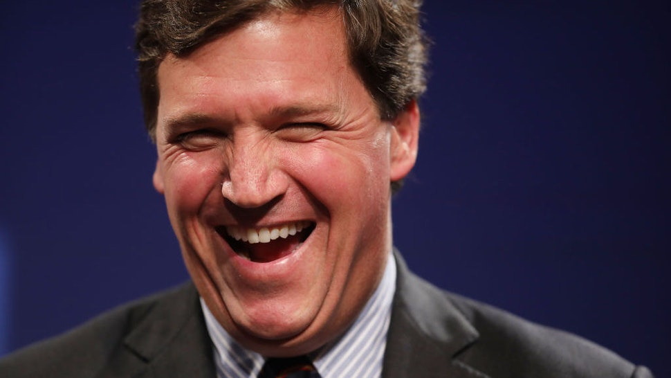 WASHINGTON, DC - MARCH 29: Fox News host Tucker Carlson discusses 'Populism and the Right' during the National Review Institute's Ideas Summit at the Mandarin Oriental Hotel March 29, 2019 in Washington, DC. Carlson talked about a large variety of topics including dropping testosterone levels, increasing rates of suicide, unemployment, drug addiction and social hierarchy at the summit, which had the theme 'The Case for the American Experiment.' (Photo by Chip Somodevilla/Getty Images)