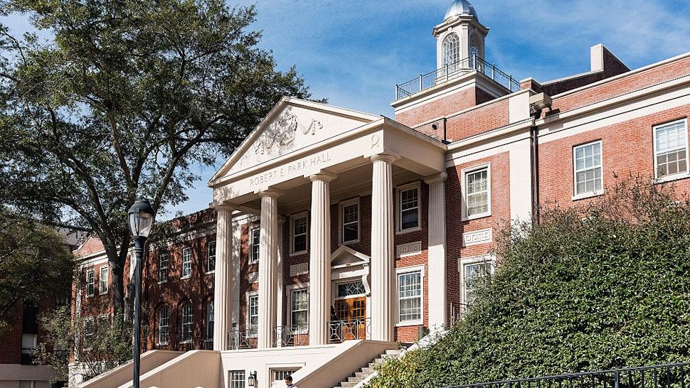 ATHENS, GEORGIA, UNITED STATES - 2015/11/13: Park Hall on the University of Georgia campus.