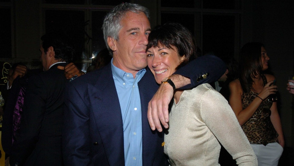 NEW YORK CITY, NY - MARCH 15: Jeffrey Epstein and Ghislaine Maxwell attend de Grisogono Sponsors The 2005 Wall Street Concert Series Benefitting Wall Street Rising, with a Performance by Rod Stewart at Cipriani Wall Street on March 15, 2005 in New York City. (Photo by