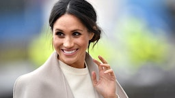BELFAST, UNITED KINGDOM - MARCH 23: Meghan Markle is seen ahead of her visit with Prince Harry to the iconic Titanic Belfast during their trip to Northern Ireland on March 23, 2018 in Belfast, Northern Ireland, United Kingdom. (Photo by