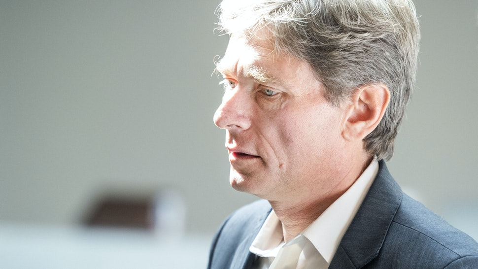 UNITED STATES - OCTOBER 15: Rep. Tom Malinowski, D-N.J., leaves the deposition of George Kent, the deputy assistant secretary of state for European and Eurasian Affairs, in the Capitol Visitor Center as part of the House's impeachment inquiry on Tuesday, Oct. 15, 2019.