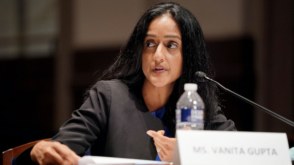 Vanita Gupta, president and chief executive officer of Leadership Conference for Civil Rights, speaks during a House Judiciary Committee hearing in Washington, D.C., U.S., on Wednesday, June 10, 2020. TheHouseis considering a broad slate of proposals that could make it easier to prosecute and sue officers, ban federal officers from using chokeholds, create a national registry for police violations, and require police departments that get federal funds to conduct bias training and use de-escalation tactics.