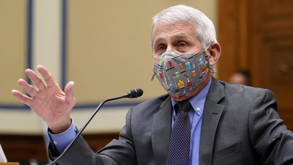 Anthony Fauci, director of the National Institute of Allergy and Infectious Diseases, speaks during a Select Subcommittee On Coronavirus Crisis hearing in Washington, D.C., U.S., on Thursday, April 15, 2021.