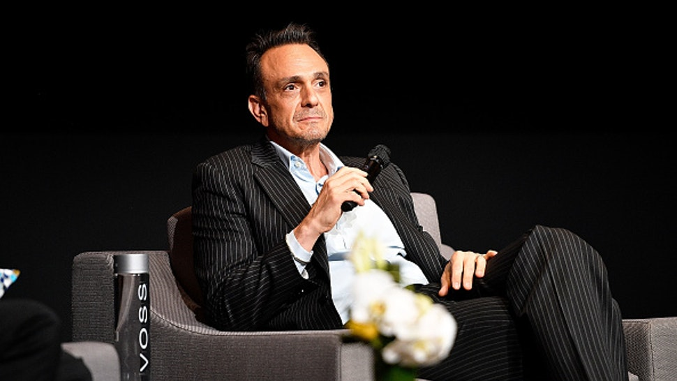 """NORTH HOLLYWOOD, CA - MAY 31: Actor Hank Azaria speaks onstage during the FYC event for IFC's """"Brockmire"""" and """"Documentary Now!"""" at Saban Media Center on May 31, 2017 in North Hollywood, California."""