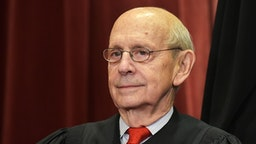 Associate Justice Stephen Breyer poses for the official group photo at the US Supreme Court in Washington, DC on November 30, 2018.