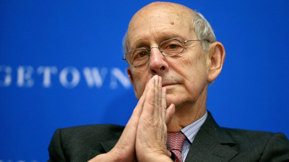 """WASHINGTON, DC - APRIL 21: Supreme Court Associate Justice Stephen Breyer participates in a panel on """"Lessons from the Past for the Future of Human Rights: A Conversation"""" at the Gewirz Student Center on the campus of the Georgetown University Law Center April 21, 2014 in Washington, DC. Organized by the law center, the New York Review of Books and the Bingham Centre for the Rule of Law the forum focused on the future of human rights."""
