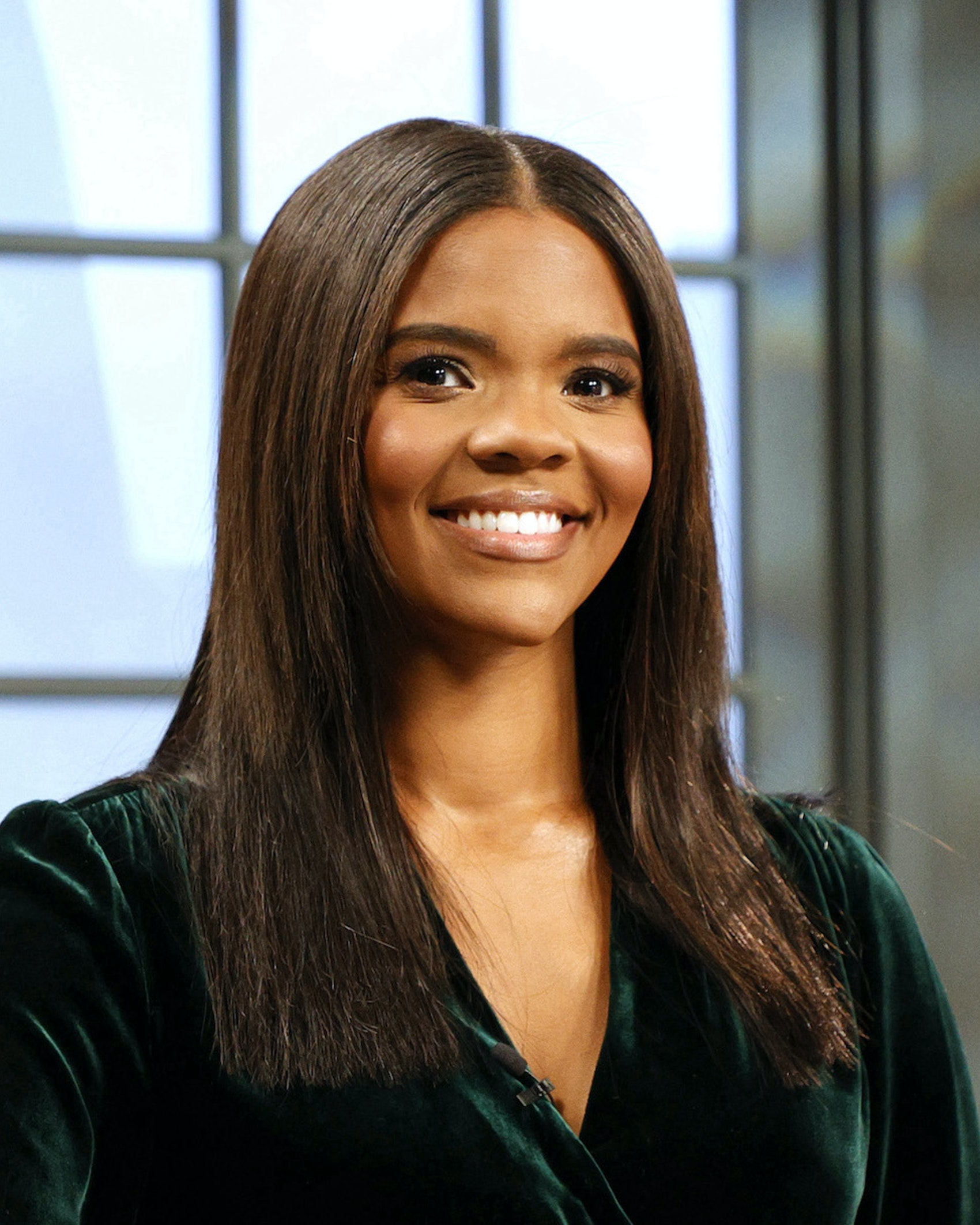 Author & host Candace Owens is seen on the set of