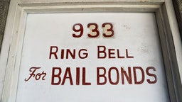 LOS ANGELES, CA - AUGUST 29: A sign advertises a bail bond company on August 29, 2018 in Los Angeles, California.