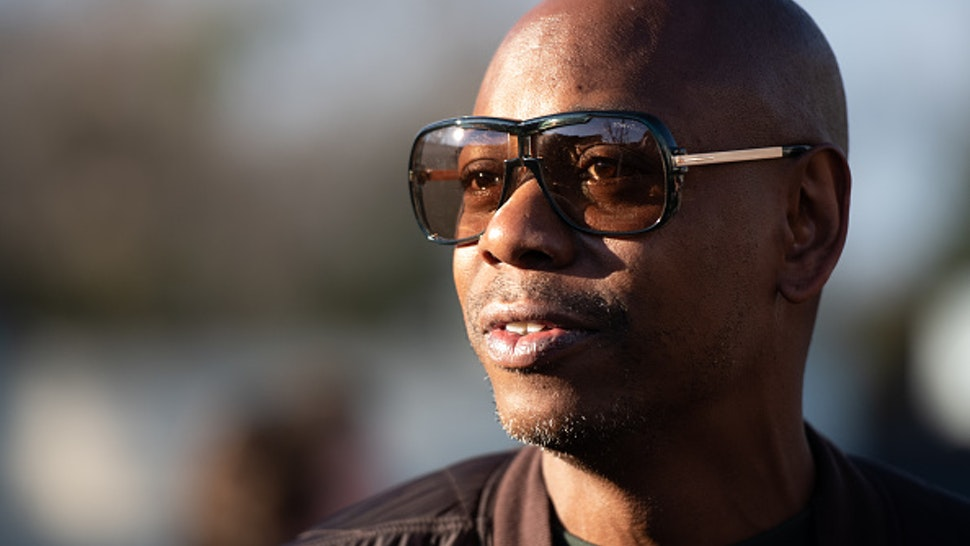 CHARLESTON, SC - JANUARY 30: Comedian Dave Chappelle campaigns for Democratic presidential candidate Andrew Yang on January 30, 2020 in North Charleston, South Carolina. The comedian has endorsed the candidate and performs the second of two South Carolina campaign benefit shows Thursday evening in Charleston.