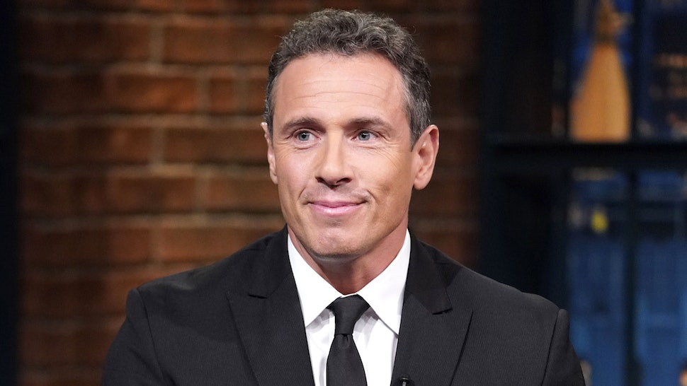 LATE NIGHT WITH SETH MEYERS -- Episode 726 -- Pictured: CNN's Chris Cuomo during an interview on September 4, 2018