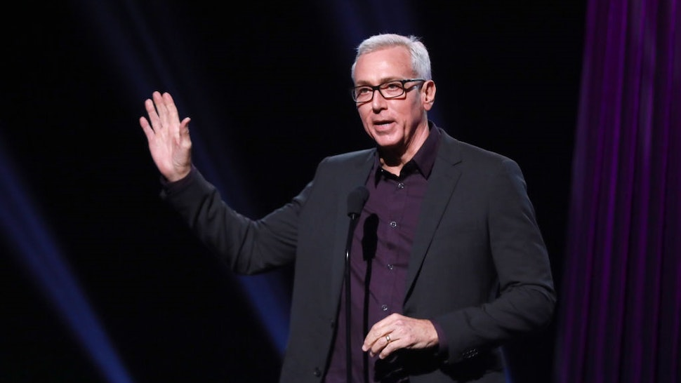 BURBANK, CALIFORNIA - JANUARY 18: Drew Pinsky speaks onstage during the 2019 iHeartRadio Podcast Awards Presented By Capital One at iHeartRadio Theater on January 18, 2019 in Burbank, California.