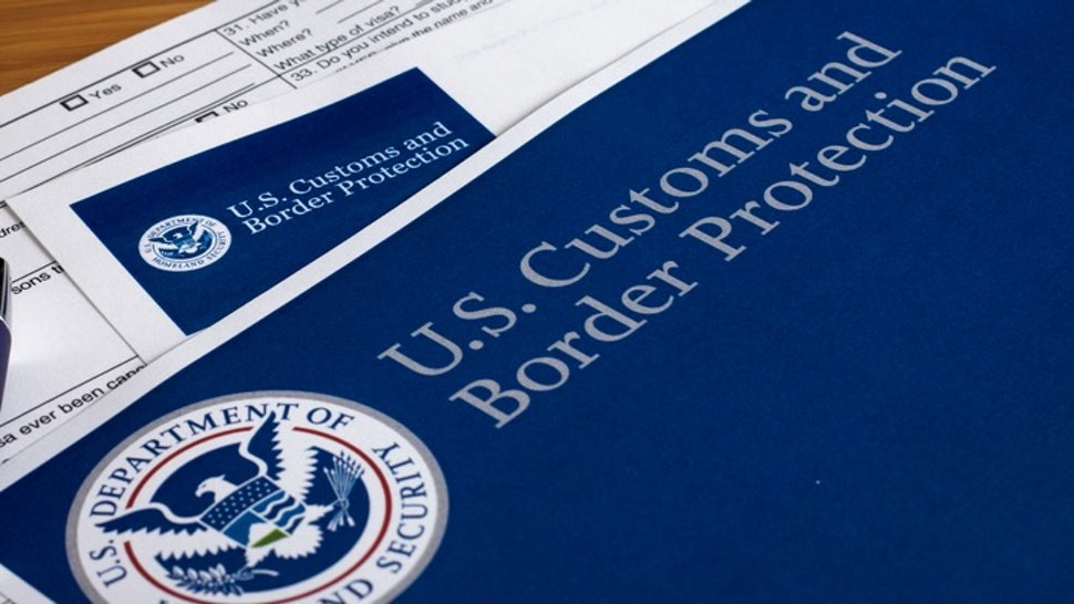 US Customs and Border Protection - stock photo US Customs and Border Protection form to fill out