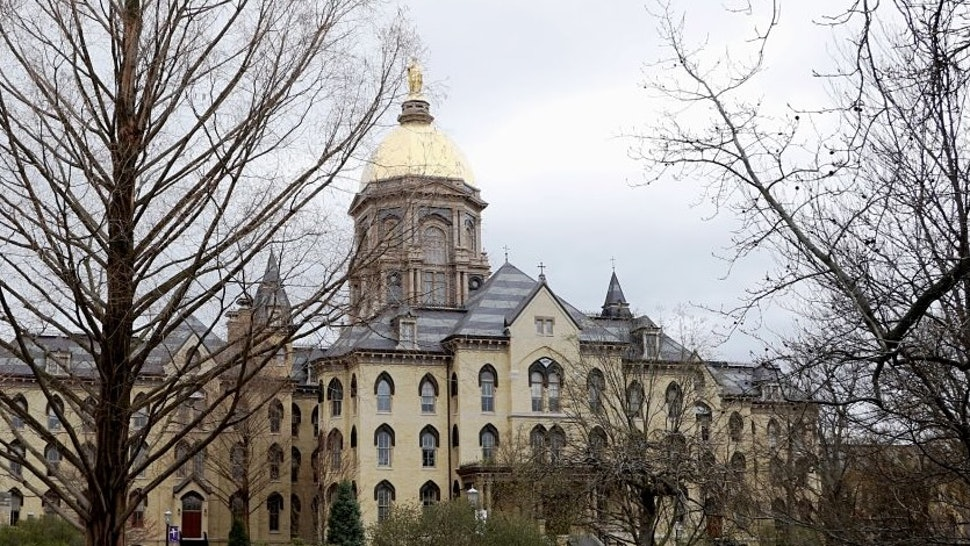 Campus scene University of Notre Dame in South Bend Indiana. (Photo by: Don & Melinda Crawford/Education Images/Universal Images Group via Getty Images)