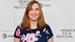 "Sarah McBride attends the ""For They Know Not What They Do"" - 2019 Tribeca Film Festival at Village East Cinema on April 25, 2019 in New York City"
