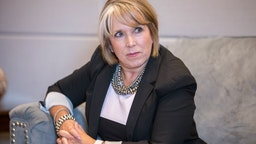 Michelle Lujan Grisham, governor of New Mexico, listens during an interview at her office in Santa Fe, New Mexico, U.S., on Thursday, Aug. 8, 2019.
