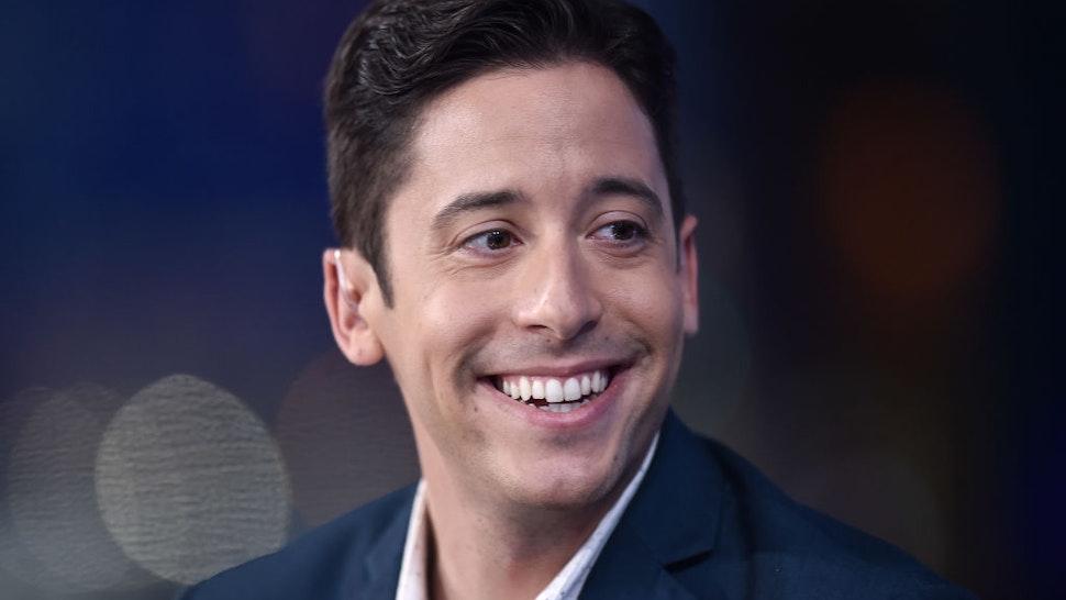 """NEW YORK, NEW YORK - SEPTEMBER 17: (EXCLUSIVE COVERAGE) Michael Knowles visits """"The Story with Martha MacCallum"""" in the Fox News Channel Studios on September 17, 2019 in New York City. (Photo by Steven Ferdman/Getty Images)"""