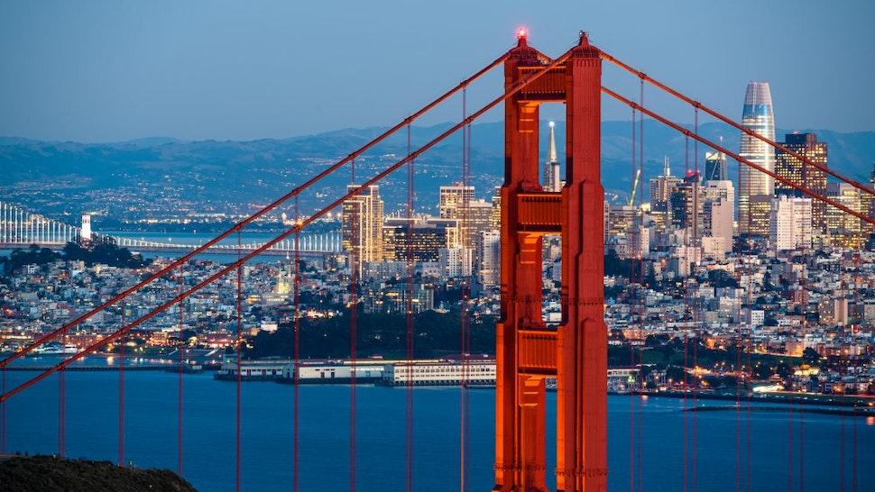 Golden Gate Bridge San Francisco Skyline