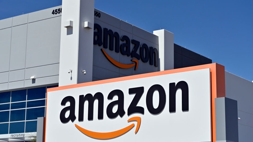An Amazon distribution center is seen as the coronavirus continues to spread across the United States, on April 25, 2020 in North Las Vegas, Nevada. - Nevada Gov. Steve Sisolak ordered a mandatory shutdown of nonessential businesses, including all casinos, in the state through at least April 30, 2020 to help combat the spread of the virus. The World Health Organization declared the coronavirus (COVID-19) a global pandemic on March 11th.