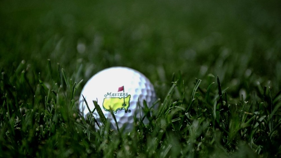 5 Apr 1999: A ball Masters golf ball displays the length of the new rough increased to 1 3/8 of an Inch before the 1999 US Masters at the Augusta National GC in Augusta, Georgia, USA.