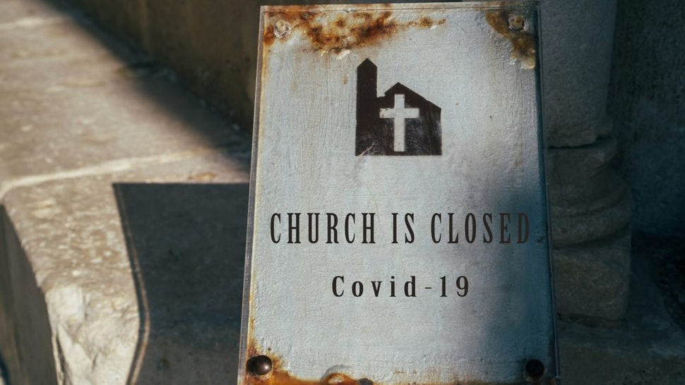 Church is closed sign