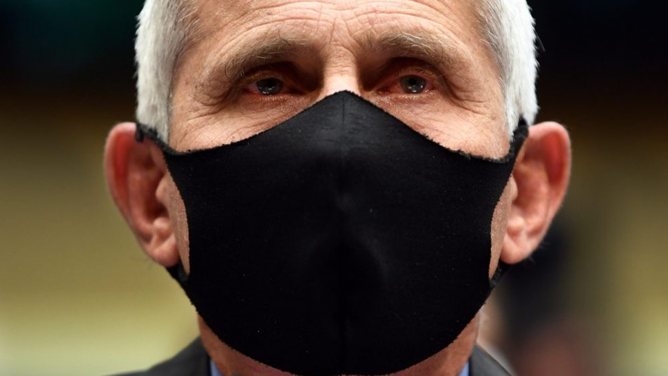 Anthony Fauci, director of the National Institute of Allergy and Infectious Diseases, wears a protective mask during a House Energy and Commerce Committee hearing in Washington, D.C., U.S., on Tuesday, June 23, 2020. Four of the country's top health officials were urged to take more of a leadership role in the national battle against Covid-19 as virus rates climb in reopening states and PresidentDonald Trumpcalls for testing to be cut back.
