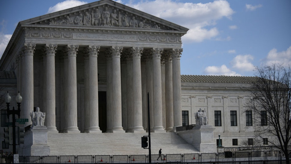 Security is tight around the US Supreme Court and the US Capitol building in Washington, D.C., March 4, 2021.