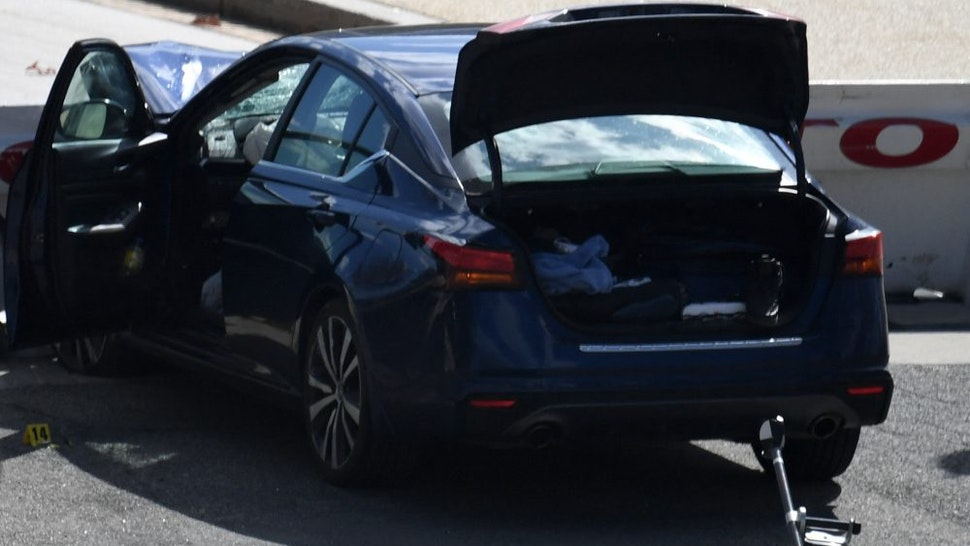 A car that crashed into a barrier near the US Capitol is seen on April 2, 2021 in Washington, DC. - One officer was killed and a second injured after a vehicle rammed through security and crashed into a barrier at the US Capitol, forcing it into lockdown less than three months after a mob assault on Congress.