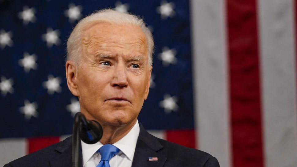 U.S. President Joe Biden speaks during a joint session of Congress at the U.S. Capitol in Washington, D.C., U.S., on Wednesday, April 28, 2021.